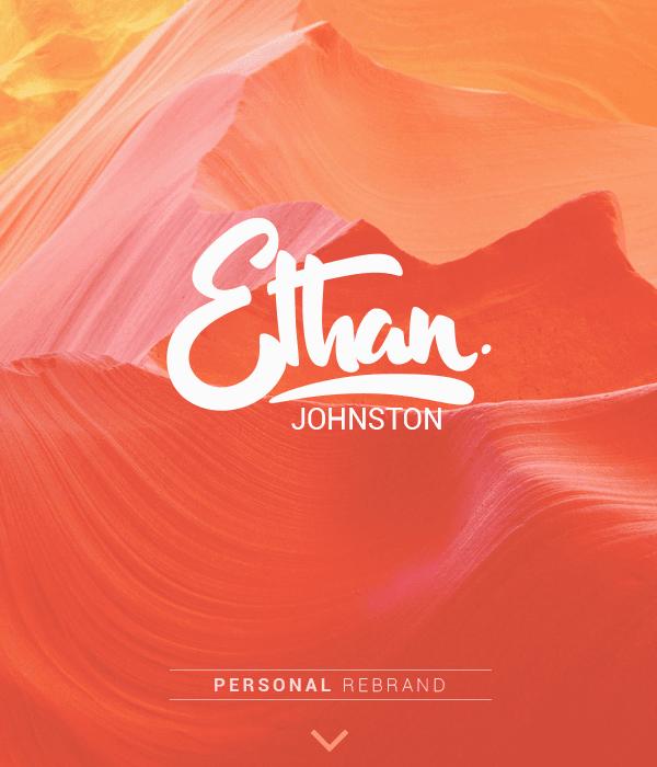 Reglas de oro de la composición tipográfica: Behance / Ethan Johnston
